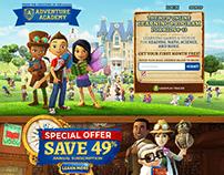 Adventure Academy Education Website