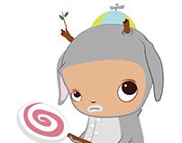 Jackalope Lollipop Boy Character Design/Vector