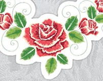 Embroidery Rose Ornament