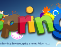 HD, Spring 3D Typographic Wallpaper