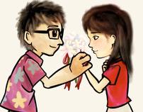 Alvin and Jennifer wedding animation