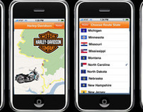 "H-D ""Routes"" iPhone Application"