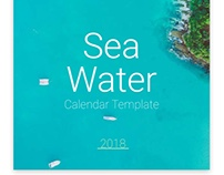 Sea Water, Calendar Template