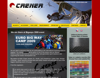 Crener Skydiving Helmets Website UX, UI, Branding