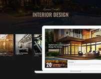 Luxurious Concept for Interior Design website