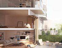 MZES Garden Apartments, Hacimimi
