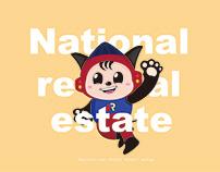 National real estate mascot design