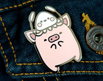 Squid&Pig 10th Anniversary Enamel Pin