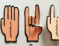 Jean Jullien Letterpress Business Cards