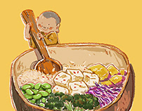 Buddha bowl • Illustrations for Hạt