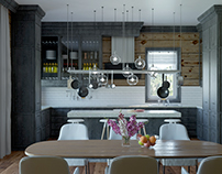 Kitchen In A Country House
