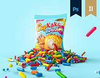 Cupkake Birthday Packaging & KV