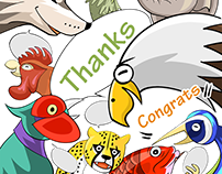 """World Greetings (Congrats & Thanks)"" - LINE STICKERS"