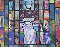 Stained Glass Window Collage No 5