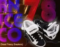 viral video - diesel freezy sneakers