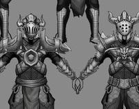Dungeon game concept work