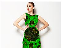 Modern Stylized Floral Print Textile Pattern