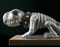 Wackel-Dackel Dog Skeleton