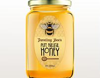 Honey Bee & Honey Label