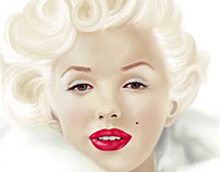 Marilyn Monroe painted in Adobe Photoshop CC