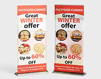 Fastfood rollup / X Banner Design