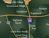 South Denver Map - Illustrated