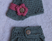 Hat & Diaper Cover Collection By: Mrs. V's Crochet