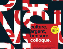 Culture, Argent, Censure. Colloque.