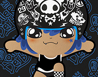 Roller Derby Helmets :Stickers Project [Blue]