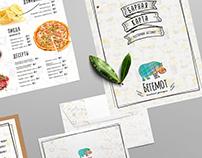 Фирменный стиль и меню для семейного ресторана