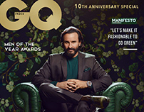 Saif Ali Khan for GQ India Men of the Year 2018 Cover.