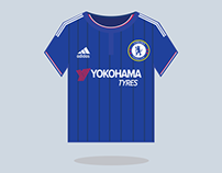 Chelsea Football Kit 2015-16 - Illustration