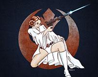 Sexy Rebel: A Princess Leia Painting