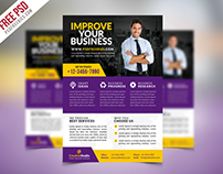 Free PSD : Multipurpose Corporate Business Flyer PSD