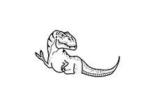 T-rex tattoo design