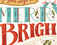 Merry and Bright holiday greeting card