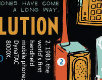 Cell Phone Evolution Infographic