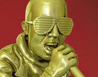 Gold Grammy's Statue