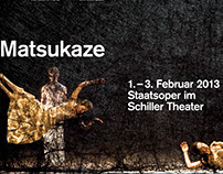 Poster for Matsukaze by Sasha Waltz