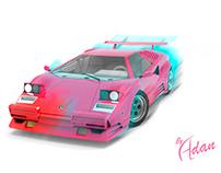 Car design art by Adan