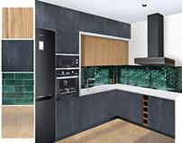 Studio 38 m2 / Дизайн-проект маленькой квартиры/коллажи