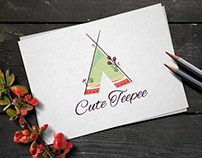 Cute Tipi Tent Logo for Sale