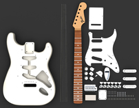 Fender Stratocaster Solidworks Model