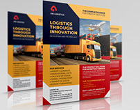 Freight and Logistics Services Flyer Template Vol.7