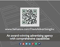 Davis Advertising logo revision/business card design