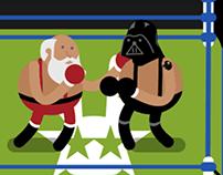 Vader Vrs Santa Animated GIF
