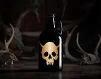Gold Demon Skull Growler