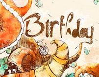 Bet's birthday illustration