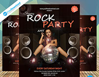Night Rock Party Flyer Psd