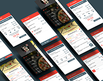 Food Delivery App UI Design, Prototype and Mockup